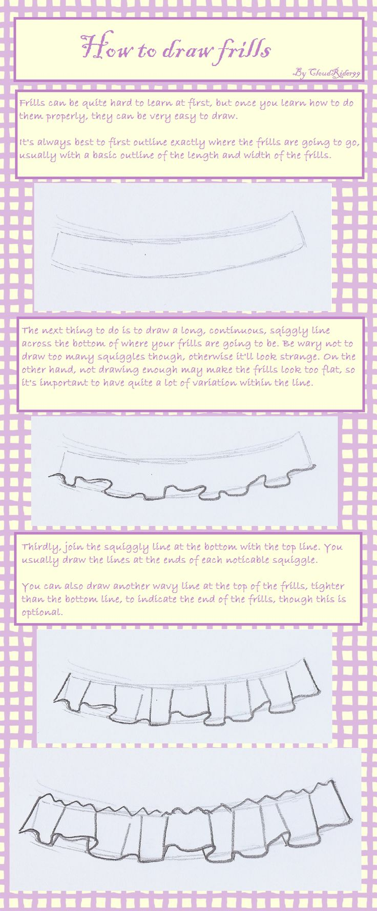 How to Draw Frills by CloudRider99.deviantart.com on @deviantART