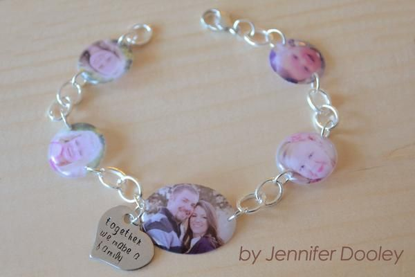 Multi-Photo Bracelets using Little Windows Resin to cast and dome - Little Windows Brilliant Resin and Supplies