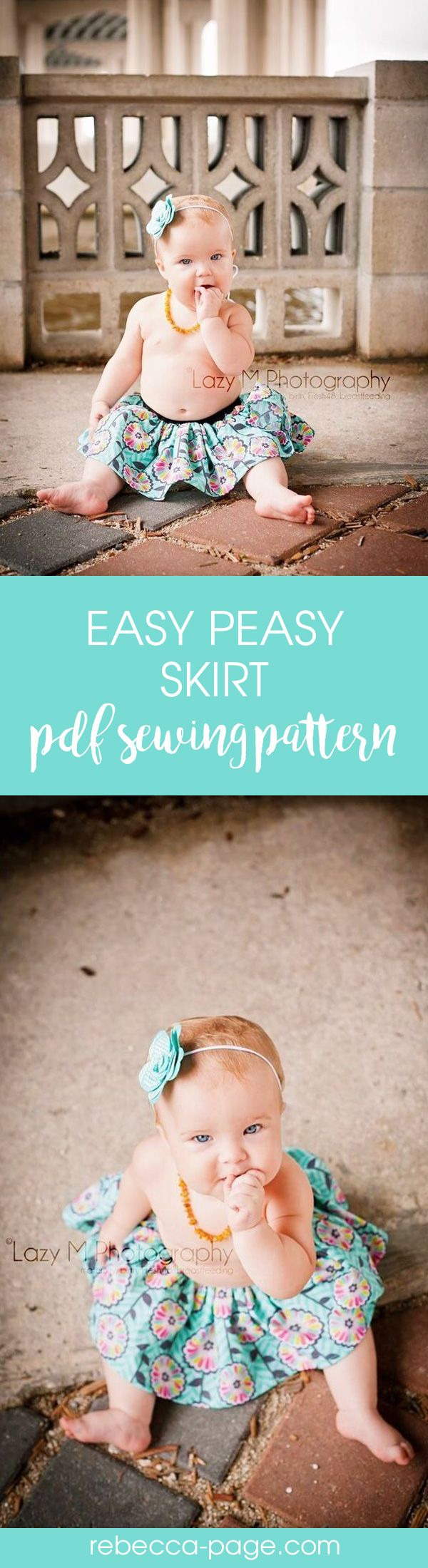 Super easy beginner sewing project - girls and baby skirt pattern
