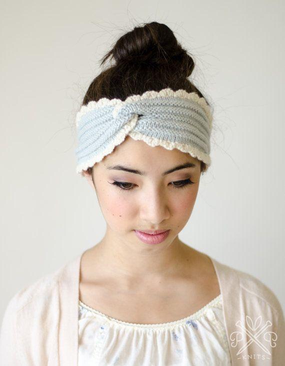 Chambray Headband PDF Knitting Pattern Instant Download Knitting patterns, ...