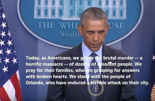 Barack Obama Statement Tragic Orlando Shooting. We pray for their families, who are grasping for answers with broken hearts.