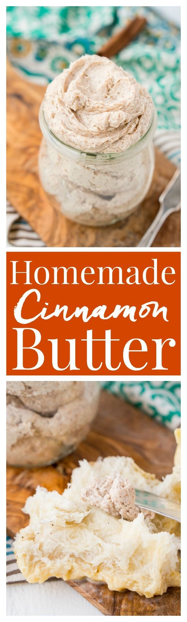 This Homemade Cinnamon Butter is bound to be a holiday table staple. Made in minutes in your stand mixer or blender, you can whip up this delicious, creamy, and spicy butter that's perfect for spreading on dinner rolls, toast, and sweet potatoes! And don't forget to brag that you made it!