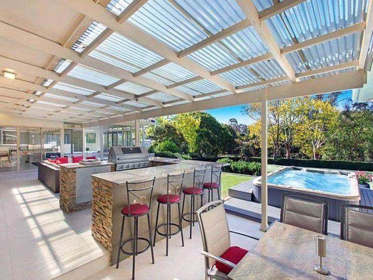 wonderful outdoor kitchen ideas   Wonderful small vaulted ceiling outdoor kitchen ideas only ...