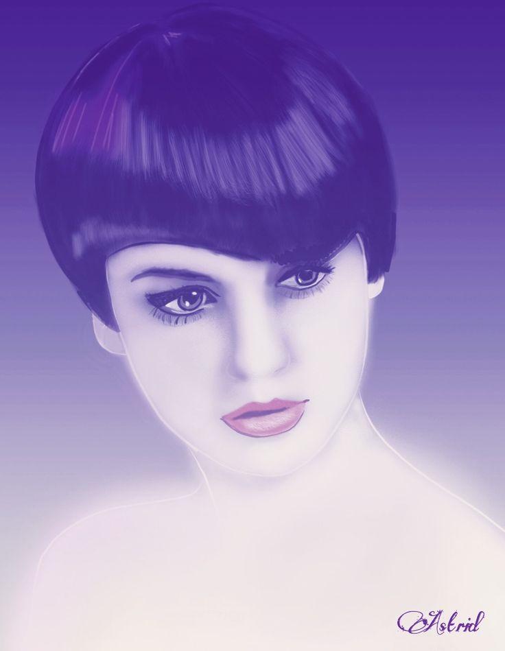 Purple  Digital drawing by Assie's Art.