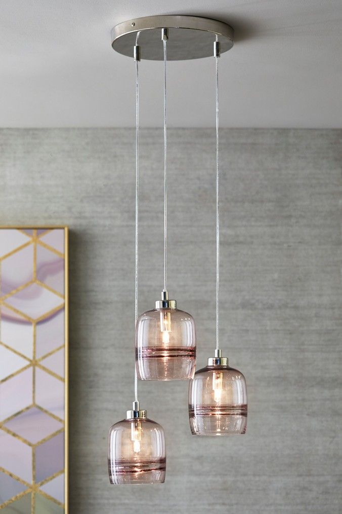 Next Nexus 3 Light Cluster Pendant Pink Ceiling Pendant Lights Light Mid Century Modern Furniture Redo
