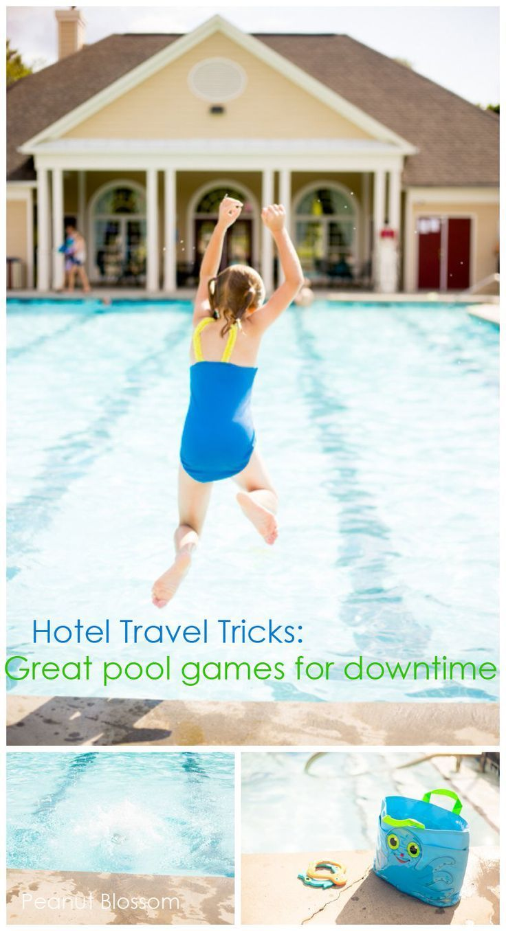 You can do your best to bring your children on a memorable vacation but so often it is the time spent at the hotel pool that elicits the most squeals of joy! Here are some easy and portable games & challenges for your hotel pool visits.