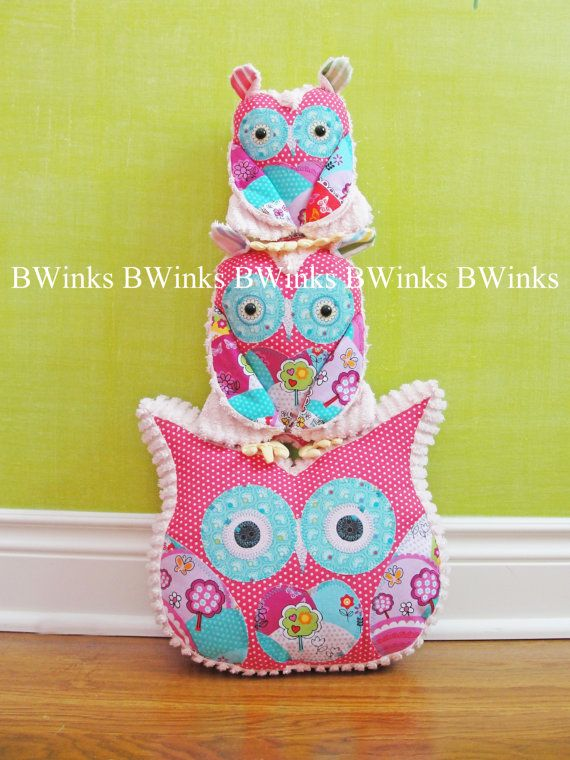 Owl Pillow Stuffed Owl  Bedroom Decor Pillow  Easter by BWinks, $32.00