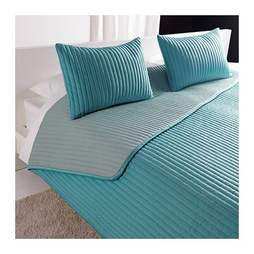 KARIT Colcha e 2 capas de almofada IKEA Colcha e capas de almofada acolchoadas para uma suavidade extra.