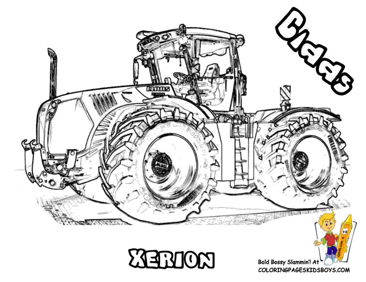 Ausmalbilder Traktor Claas | Tracks | Pinterest