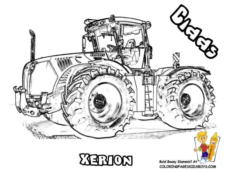 ausmalbilder traktor claas | tracks | ausmalbilder traktor