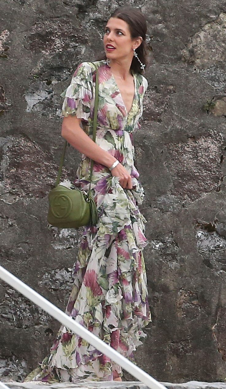 Charlotte Casiraghi                             Gucci floral dress