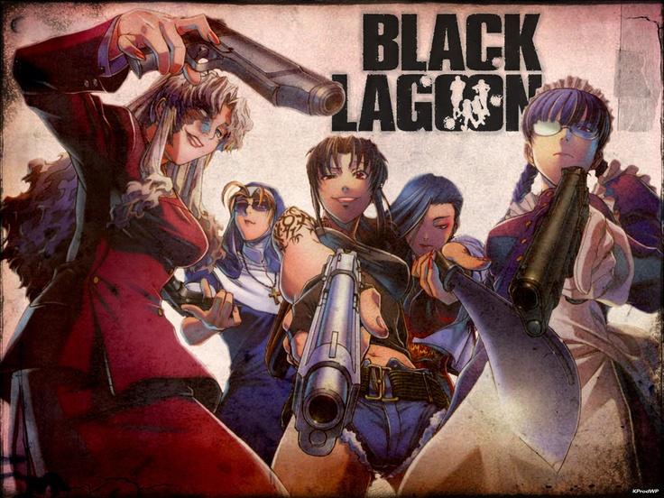 Japanese Anime Black Lagoon bad ass girls to the max Balalaika, Eda, Revy, Chinglish :-) and Roberta