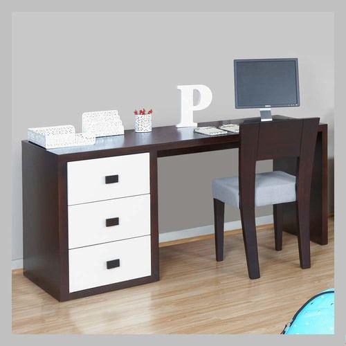 ESCRITORIO CON CAJONES E-08 Moderno escritorio en madera color wengue o fucsia con contraste de acabado blanco en los tres cajones. El diseño se presta para se ubicado en una habitacion de niño o niña ya que usted puede escoger el color que más le guste a su hijo. La silla no está incluida en el precio pero la puede ver aqui.