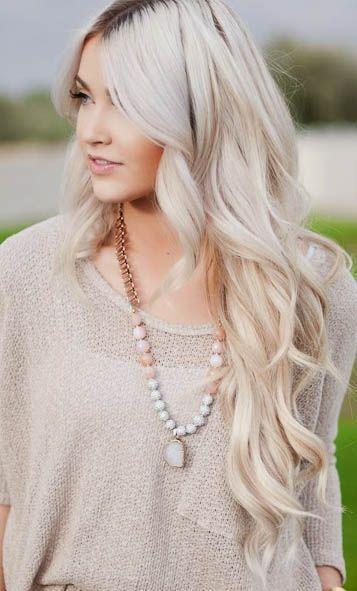cara loren perfect icy ashy cool blonde hair
