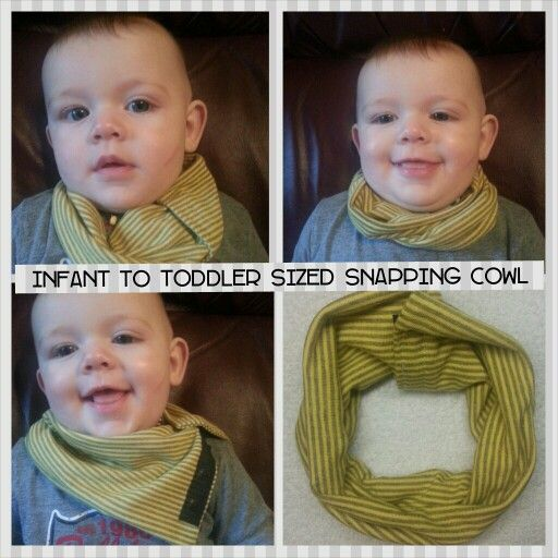 Infant safer snapping cowl infinity scarf