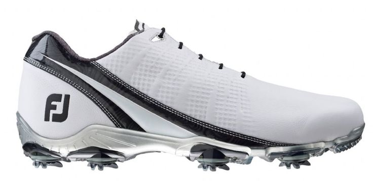FootJoy D N A 2 0 Men's Golf Shoes - White Black - 53388 - M Width - Includes a Free Two Pack of FootJoy Socks