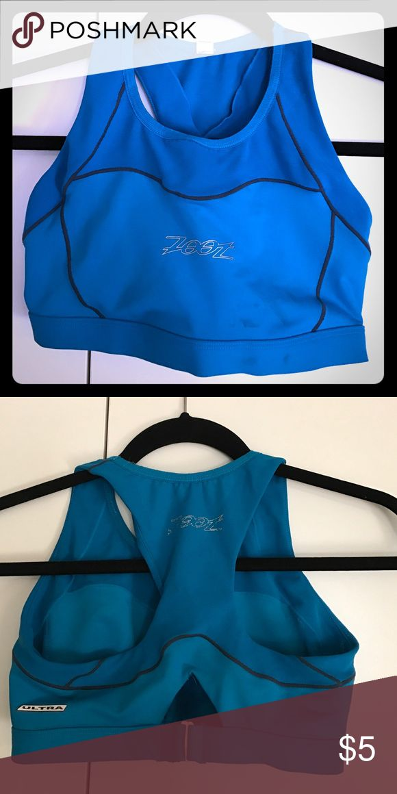Triathlon sports bra Zoot triathlon sports bra - ultra worn in one triathlon. Used from water to biking to running. In used condition but still has life left in her. zoot Intimates & Sleepwear Bras
