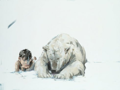 art, contemporary art, Amberlee Rosolowich, realism, contemporary realism, artists, oil painting, animals, children, zoo,