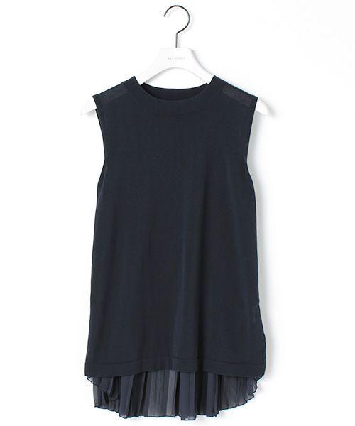 ELFORBR(エルフォーブル) 公式ファッション通販サイト/後シフォンプリーツプルオーバー(ニット・セーター)|セレクトスクエア