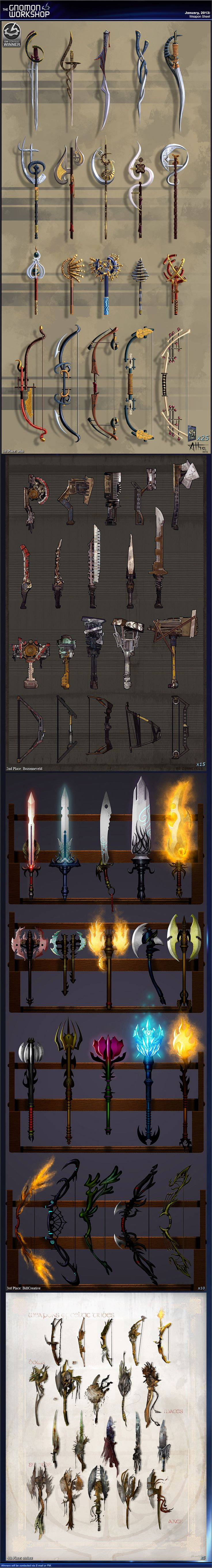 All kinds of Design or Weapons