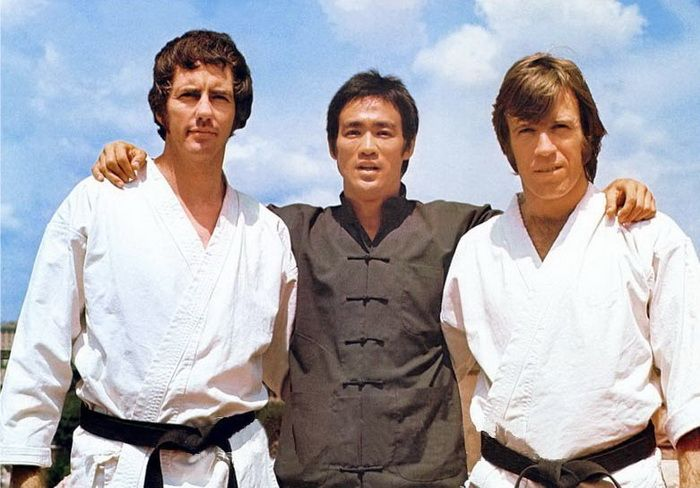 """chuck norris and bruce lee sparring 