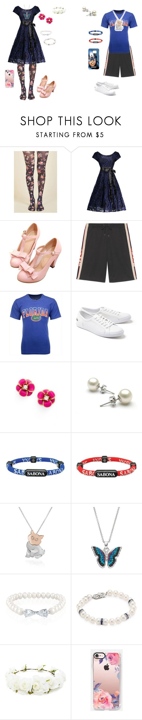 """""""Girly Girl vs. Tomboy: Family reunion outfits"""" by sierra-ivy on Polyvore featuring BRIO, Gucci, Colosseum, Lacoste, Kate Spade, Sabona, Forzieri, Belk & Co., Mikimoto and Forever 21"""