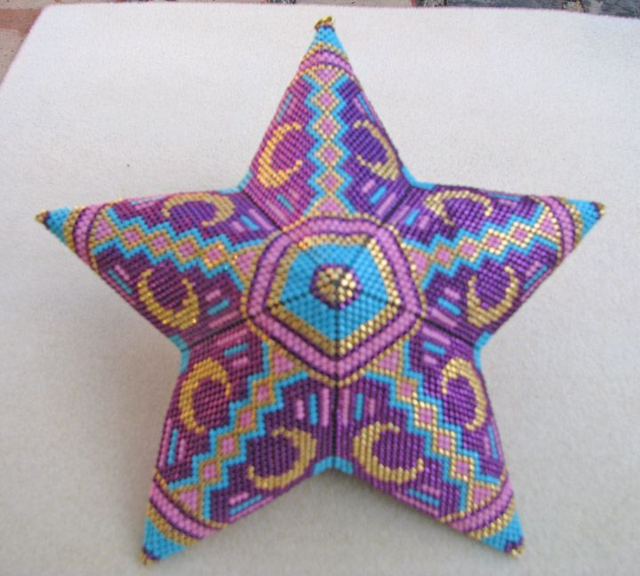 Adapted from a triangle pattern by Lady Lunar Cat Designs