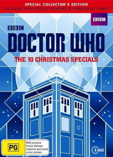 Doctor Who - 10 Christmas Specials  The Doctor Who Christmas Special is a highlight of Christmas TV viewing, and has become a tradition for many. These stand-alone movie-length episodes often include big-name guest stars (Kylie Minogue comes to mind) and are a good introduction to the Doctor Who universe. Bearing in mind that they are usually the most-watched episodes of the year, the show's writers often include key plot points into these stories, including new companions and Doctors.