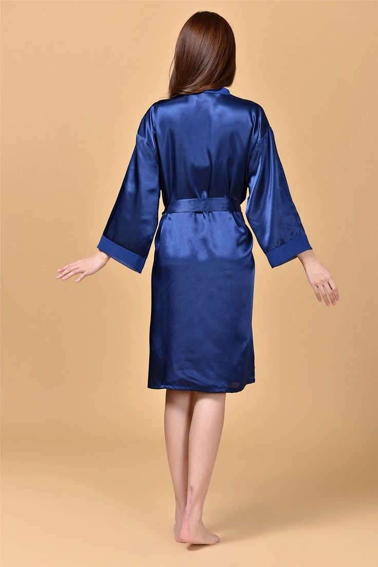 RB089 Nightwear Women Luxury Faux Silk Satin Sleepwear Robes Pajamas Nightgowns Bridemaids Party Robes Hen Party Bath Robes