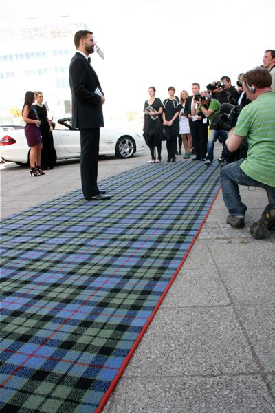 """Forget the """"red carpet""""  I much prefer this spectacular tartan!"""