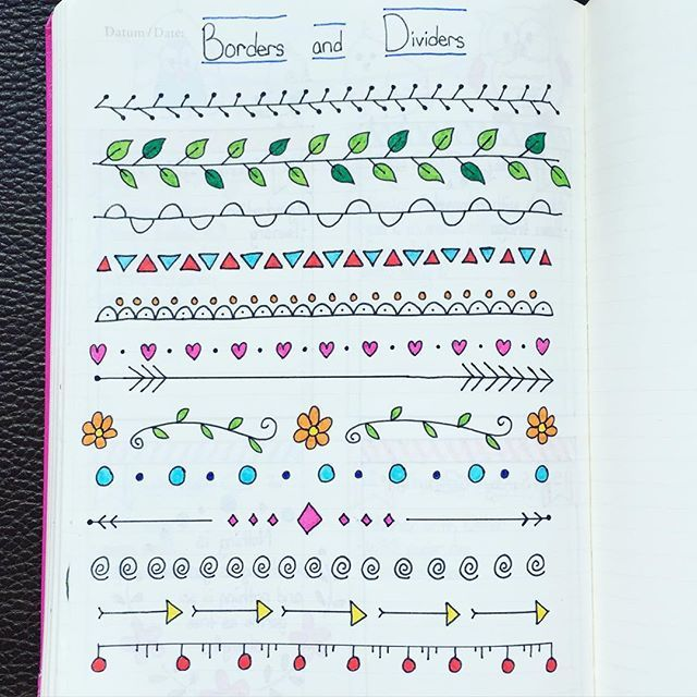 My first page of border and divider ideas - inspired by Pinterest and…