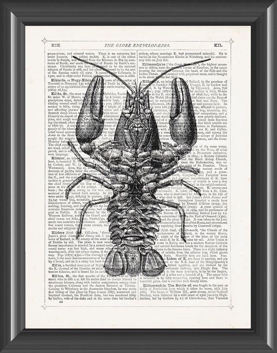 Crayfish freshwater lobster crawfish upcycled by PicturePorridge