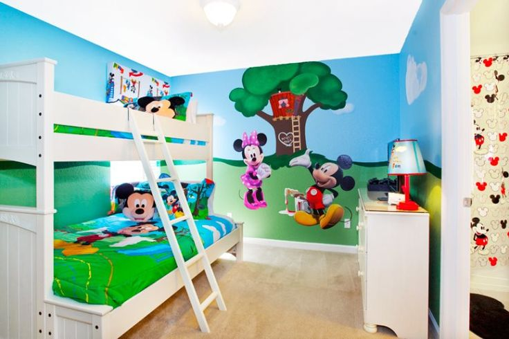 Commickey Mouse Kids Room : ... Mickey, Minnie and their Disney friends in this