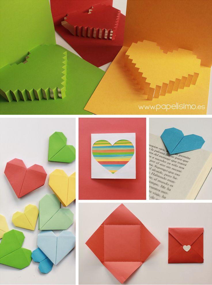 Tarjeta de coraz n 3d para san valentin pop up http - Manualidades para hacer tarjetas ...