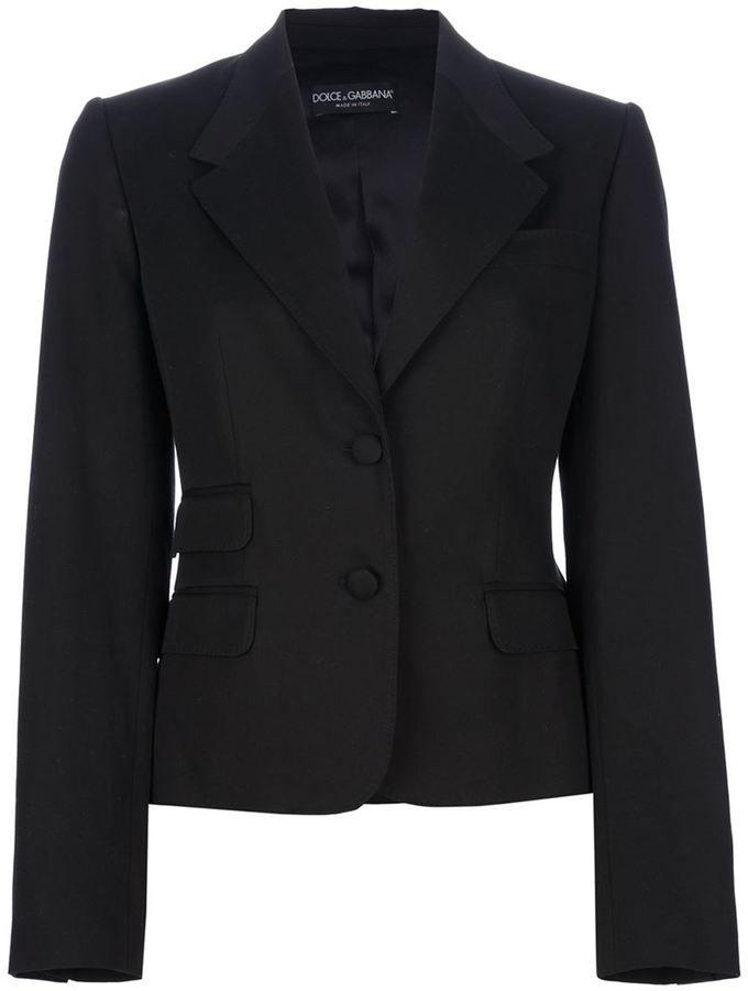 Dolce & Gabbana slim cut trouser suit