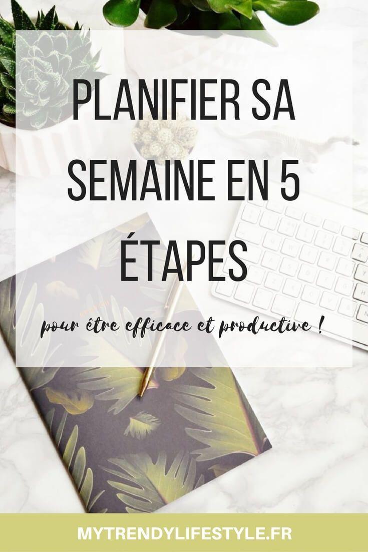 Planifier sa semaine en 5 étapes
