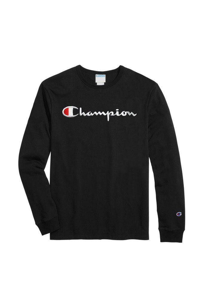 NEW Original Champion Men/'s Classic Jersey Script T-shirt Large C Logo