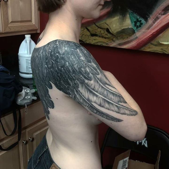 Feather Tattoo by MJ from Warlock's Tattoo Inc. - 20170816