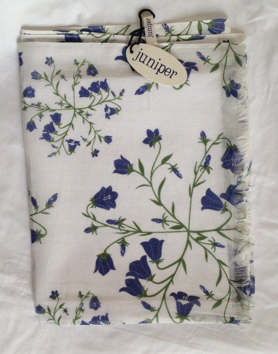 Women's harebell floral print scarf in 100% cotton