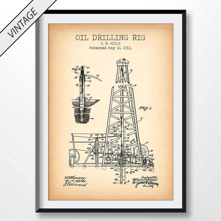 82 mejores imgenes de patent prints en pinterest oil drilling rig patent print drilling rig poster drilling rig blueprint mining texas oil oil well hydraulic black gold malvernweather Images