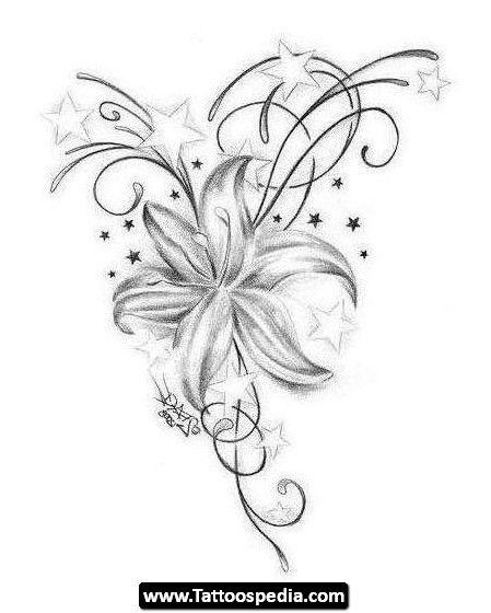 22 besten single flower tattoo outlines bilder auf for Single flower tattoo
