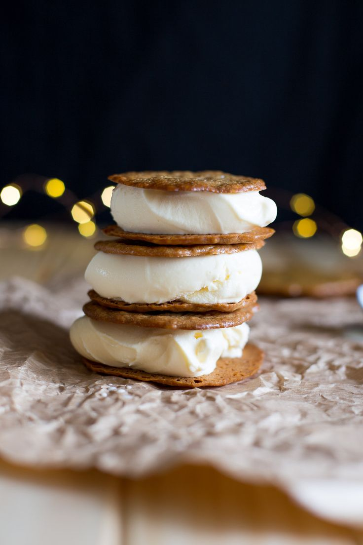 Brandy Snap Ice Cream Sandwiches