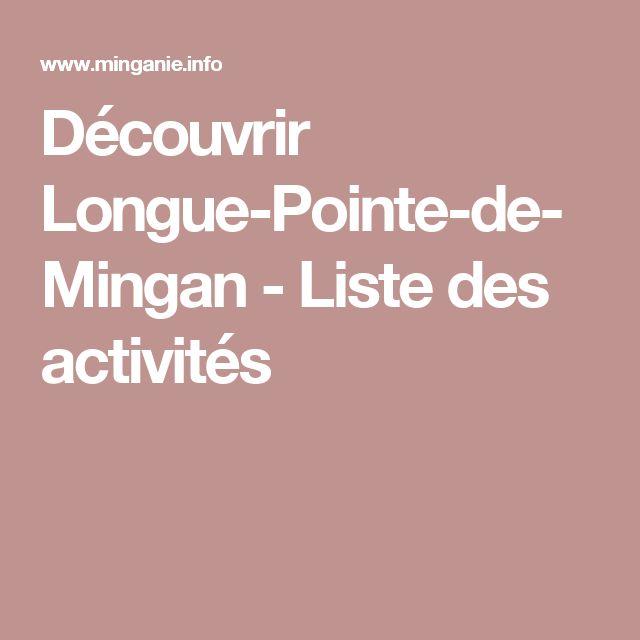Découvrir Longue-Pointe-de-Mingan - Liste des activités