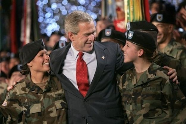 Give them a hug!    How To Thank A Soldier, By George W. Bush