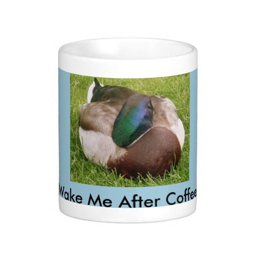 Wake me After Coffee Duck Sleeping Mug