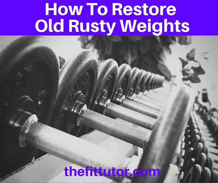 Buying dumbbells can be expensive. Here's a step by step tutorial on how to restore old rusty weights and make them shiny and usable again.