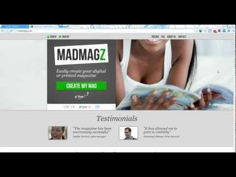 Créer un magazine en ligne ou à imprimer gratuitement.  se créer un compte (asylvi.... 1.....)