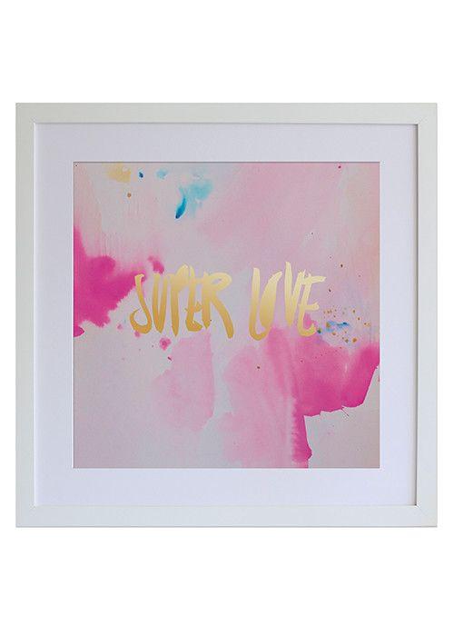 Super Love Gold Foil Print   Pony Lane
