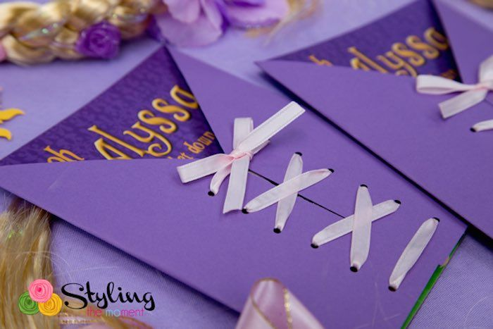 Tangled + Rapunzel Birthday Party via Kara's Party Ideas: The Invite