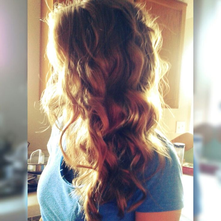Bubble wand curls